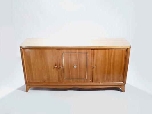 Credenza Moderna In Ciliegio : Credenza modernista in legno di ciliegio e ottone jacques adnet