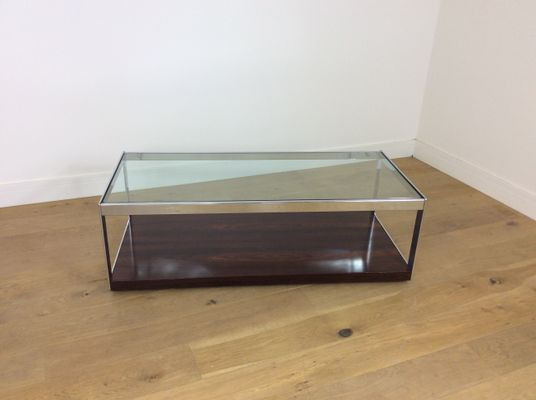 89346e20fa52e Chrome   Glass Table by Richard Young for Merrow Associates