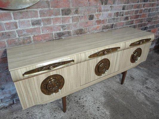 Maniglie Per Credenza Anni 50 : Credenza legno anni modernariato design pomelli maniglia vetro
