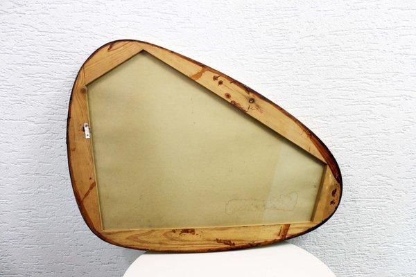 free form mirror  Vintage Free Form Mirror