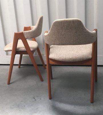 Compass Chairs Aus Teak Von Kai Kristiansen Fur Sva Mobler 1960er 2er Set