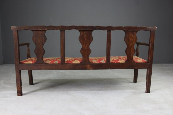 Super Antique Oak Chippendale Style Settee Pabps2019 Chair Design Images Pabps2019Com