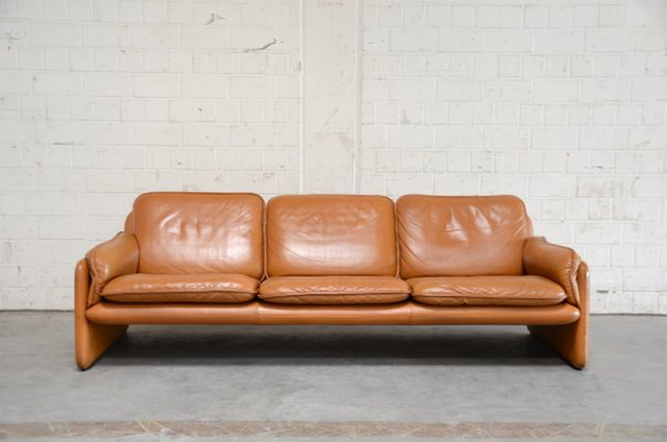 Vintage Ds 61 Sofa In Cognacfarbenem Leder Von De Sede Bei Pamono Kaufen