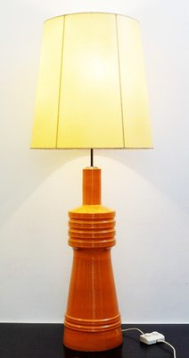 Large Orange Ceramic Table Lamp 1