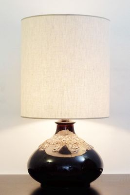 Fat Lava Brown Ceramic Table Lamp 1960s For Sale At Pamono