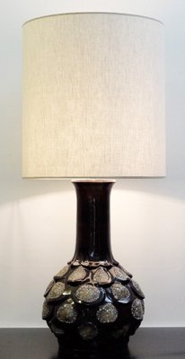 Brown fat lava ceramic table lamp 1960s for sale at pamono brown fat lava ceramic table lamp 1960s 1 aloadofball Choice Image