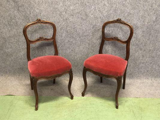 Chaises d\'Appoint Style Louis XV Vintage, Set de 2 en vente sur Pamono