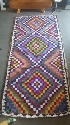 Tapis Cubes Multicolore Vintage En Vente Sur Pamono