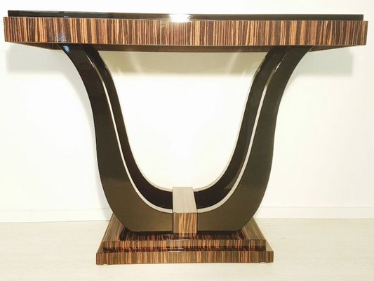 art deco console table with macassar veneer 1920s