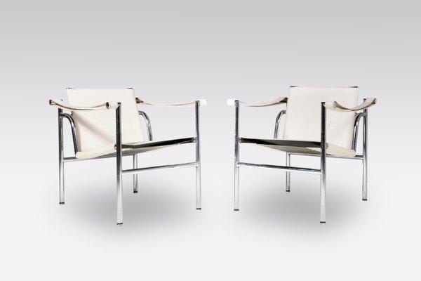 Chaises LC1 Par Le Corbusier Pour Cassina 1980s Set De 2 10