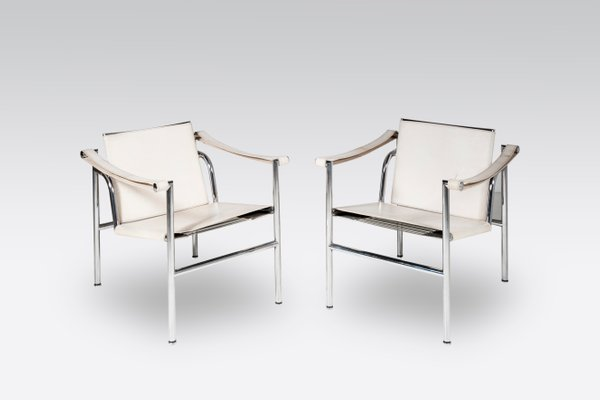 Genial LC1 Chairs By Le Corbusier For Cassina, 1980s, Set Of 2