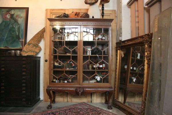 Antique Mahogany Glass Cabinet For Sale At Pamono