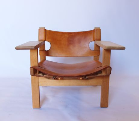 bm2226 spanish chairs by børge mogensen 1960s set of 2 for sale at