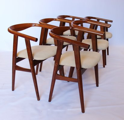 GE525 Dining Room Chairs by Hans J. Wegner for Getama, 1960s, Set of 6