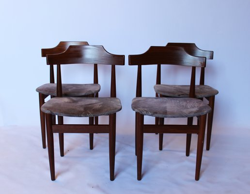 Rosewood And Grey Fabric By Hans Olsen