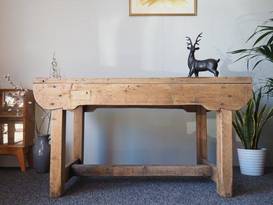 Banc d\'Atelier ou Table de Salle à Manger Rustique Vintage en Pin en ...