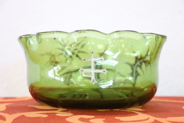Green Art Nouveau Glass Vase From Emile Gall 1880s For Sale At Pamono