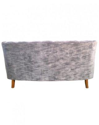Blue-Grey Velvet Sofa with Wooden Armrests, Sweden, 1940s for sale ...