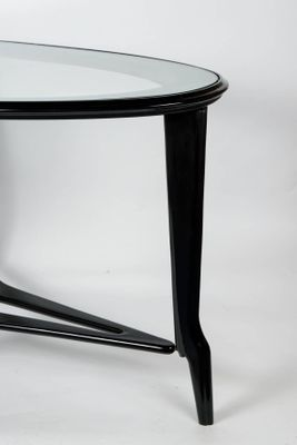 Tables d Appoint en Bois et Verre, 1950s, Set de 2 en vente sur Pamono 03a1f4095aa0