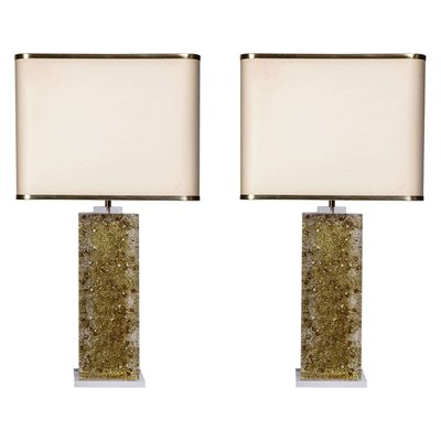Vintage Lucite Table Lamp Bases By Maison Romeo Set Of 2