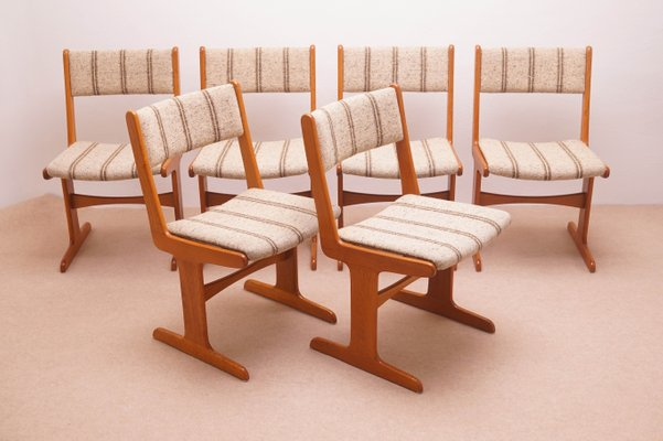 Delicieux Vintage Scandinavian Dining Chairs From Farso Stolefabrik, Set Of 6