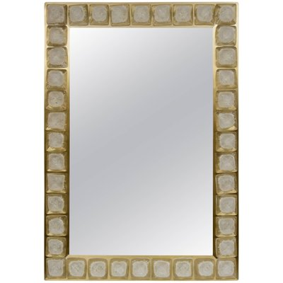 c13aa337c16 Vintage Murano Glass Mirror with Brass Frame for sale at Pamono
