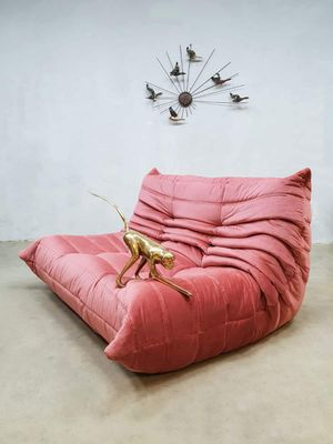 Vintage Togo Living Room Set in Pink Velour by Michel Ducaroy for ...