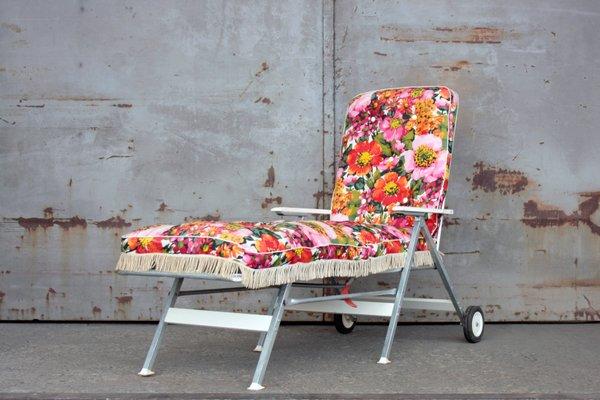 Century Chaise Pliante De Kurz Mid Gartenmöbel1960s Florale Longue QWeroCBdx