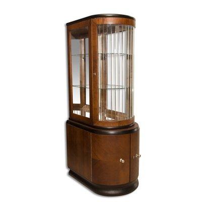 Art Deco Glazed Oak Liquor Cabinet, 1930s 1