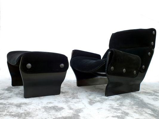 Canada Lounge Chair Ottoman By Osvaldo Borsani For Tecno 1960s