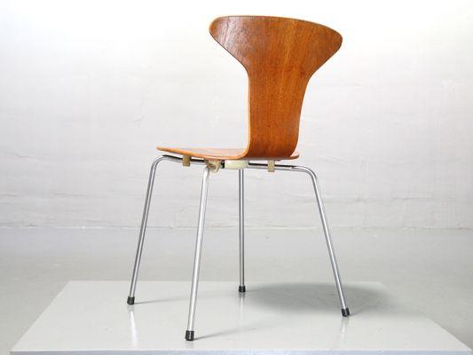 Teak 3105 Mosquito Chair Von Arne Jacobsen Für Fritz Hansen 1967