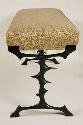 Pleasing Vintage Bronze Bench By Peter Van Heeck Pabps2019 Chair Design Images Pabps2019Com