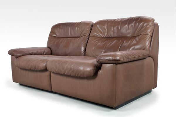 Ds 66 Leather Two Seater Sofa From De Sede 1970s 1