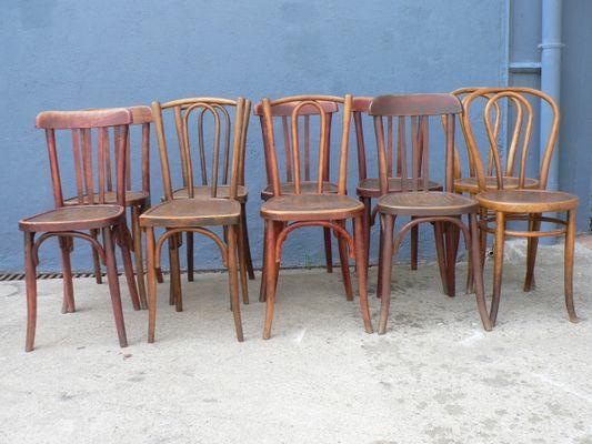 Chaises De Salle A Manger Vintage En Bois Set De 10 En Vente Sur Pamono