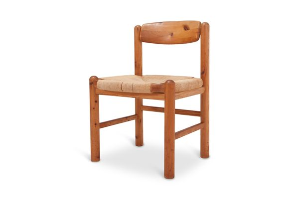 Dining Chairs In Solid Pine By Rainer Daumiller, 1970s, Set Of 4 1