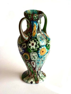 Murrine Glass Vase By Fratelli Toso For Venini 1910s For Sale At Pamono