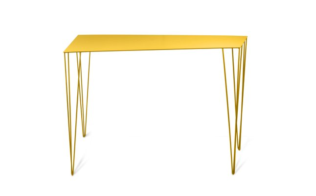 Chele Console Table In Yellow By Antonino Sciortino For Atipico 1