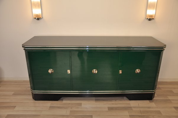 Grosses Art Deco Sideboard In Grun 1920er Bei Pamono Kaufen