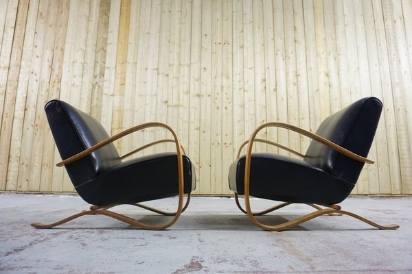 Fine H 269 Lounge Chairs By Jindrich Halabala For Thonet 1930S Set Of 2 Evergreenethics Interior Chair Design Evergreenethicsorg