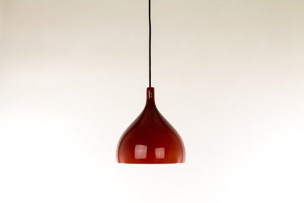 Lampada a sospensione in vetro soffiato di massimo vignelli per