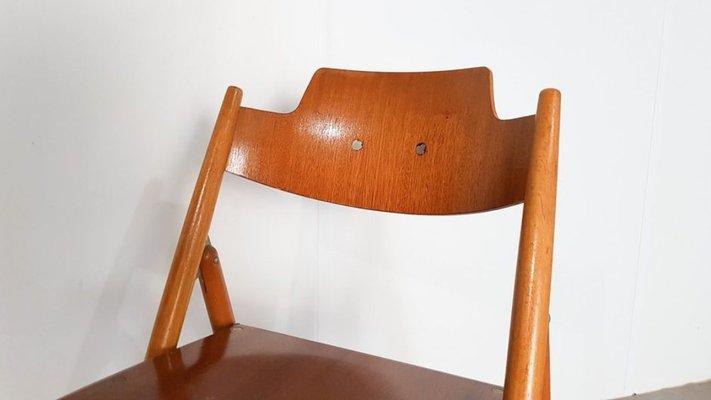 Sedie pieghevoli SE18 di Egon Eiermann per Wilde+Spieth, 1952, set di 3
