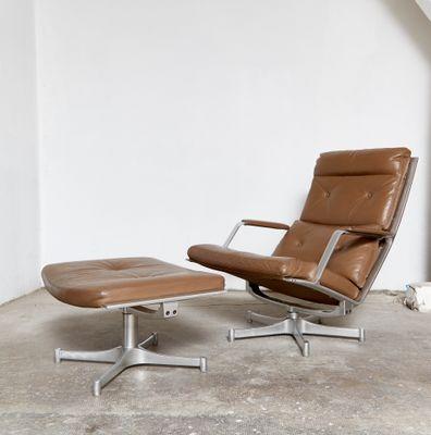 Excellent Vintage Fk 85 Lounge Chair Ottoman By Jorgen Kastholm Preben Fabricius For Kill International Ibusinesslaw Wood Chair Design Ideas Ibusinesslaworg