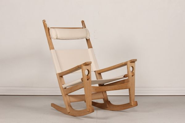 GE 673 Oak Rocking Chair By Hans J Wegner For Getama, 1970s 1