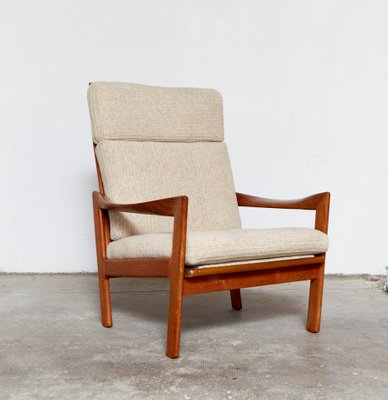 Merveilleux Mid Century Highback Chair U0026 Ottoman By Illum Wikkelsø For Niels Eilersen 2