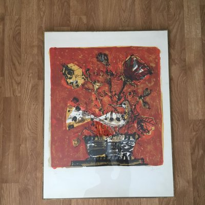 Miraculous Vintage Lithograph Print By Paul Aizpiri Home Interior And Landscaping Ologienasavecom