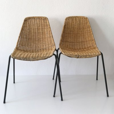 Vintage 2 Basket Chairs U0026 Stool By Gian Franco Legler, ...