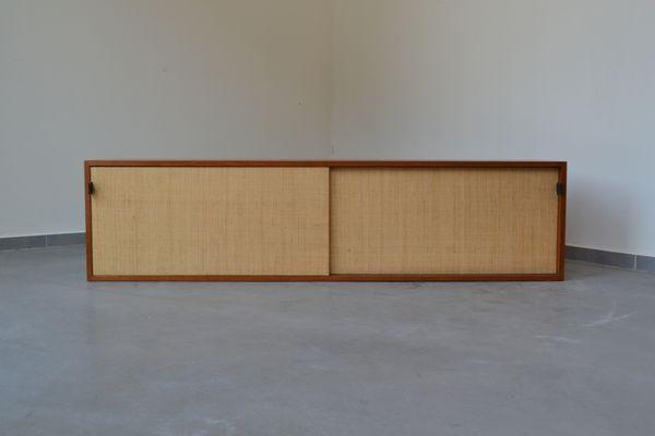 Credenza Da Muro : Credenza da parete in seagrass di florence knoll per