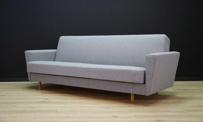 Divano letto vintage grigio di Dantos Møbler in vendita su Pamono