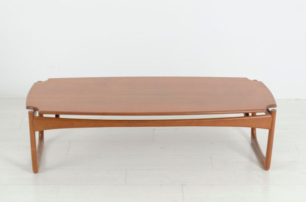 Vintage Long John Teak Coffee Table By Peter Hvidt For France Søn 1