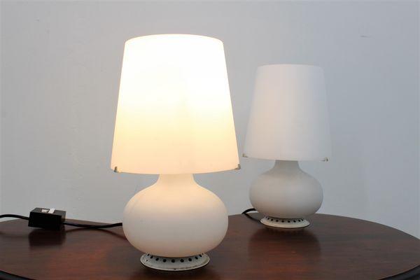 Lampade da tavolo mid century piccole di max ingrand per fontana